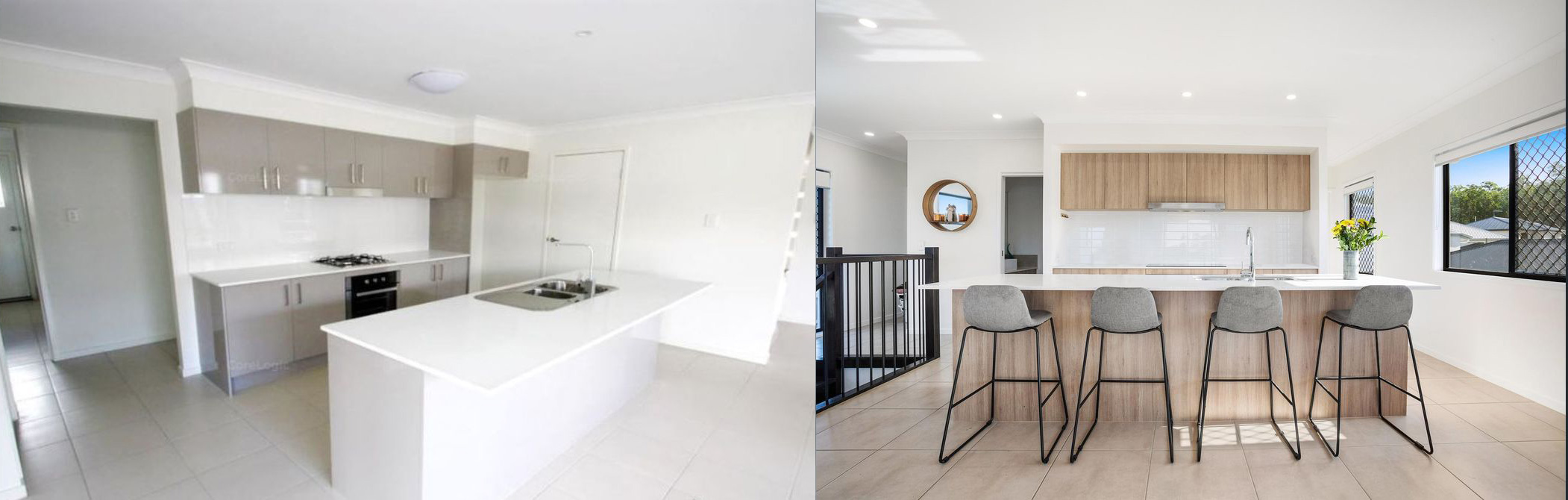 real estate styling comparison